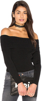 525 America Off Shoulder Ribbed Sweater