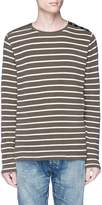 Denham Jeans 'Cadet' button shoulder stripe sweater