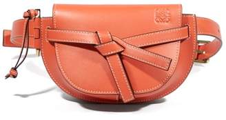 Loewe Gate Mini Leather Belt Bag - Womens - Orange