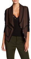 Grayse Parisian Faux Suede Trim Jacket