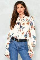 Nasty Gal Warm Thoughts Floral Blouse