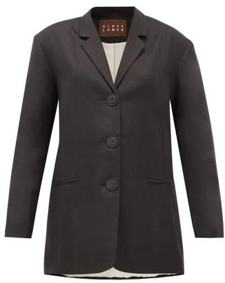 Albus Lumen - Manus Oversized Linen Blazer - Womens - Black