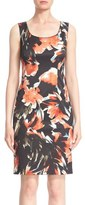 Lafayette 148 New York 'Rebecca' Floral Print Sheath Dress (Regular & Petite)