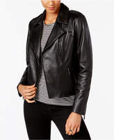 MICHAEL Michael Kors Leather Studded Moto Jacket