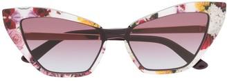 Cat Eye Floral Print Sunglasses
