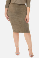 Fashion to Figure Delancey Faux Suede Pencil Skirt
