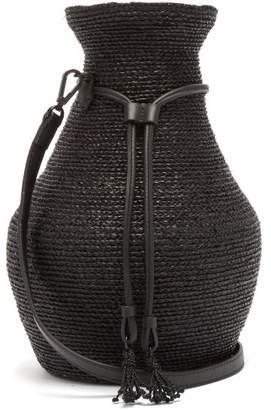 Helen Kaminski Albus Lumen - X Figura Raffia Cross Body Bag - Womens - Black