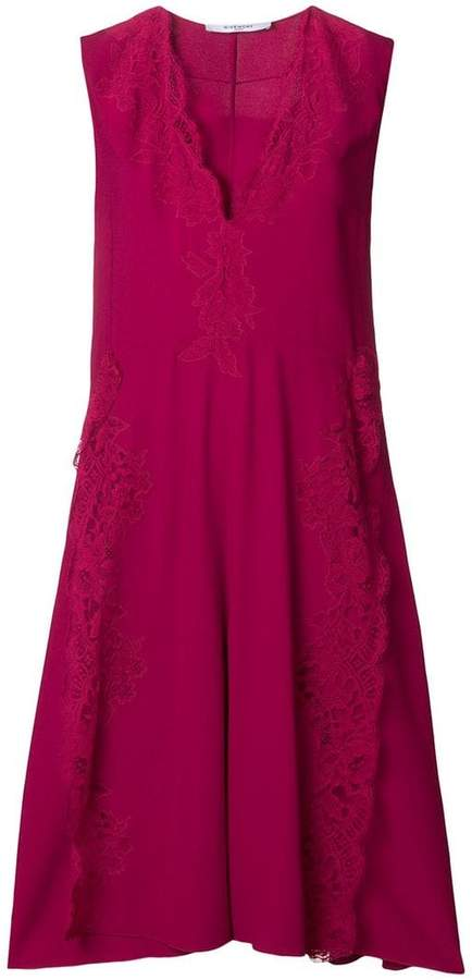 Givenchy lace flared midi dress