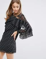 Keepsake Dress with Pleats in Polka Dot