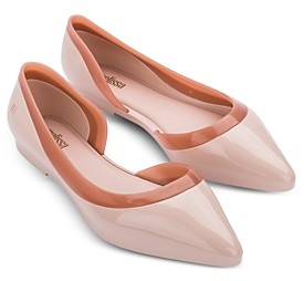 Melissa Women's Cleo Ad Pointed Toe Bubble Gum Scented Flats