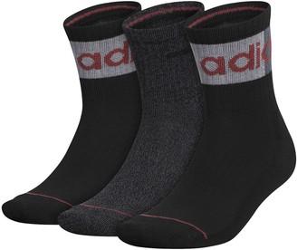 adidas Men's AEROREADY Blocked Linear II 3-Pack High Quarter Socks