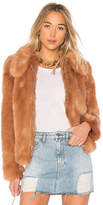 LPA x REVOLVE Faux Fur Jacket 413 in Peach. - size L (also in M,S,XL,XS)