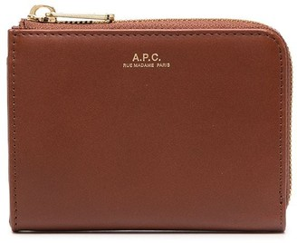 A.P.C. Curved Zip Wallet