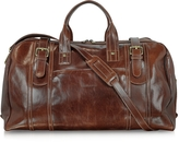 Chiarugi Large Brown Italian Leather Holdall Bag Travel Bag