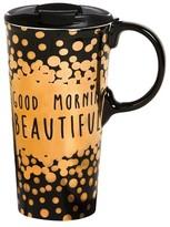 "Evergreen Ceramic Cup ""Good Morning Beautiful"" - 17oz."