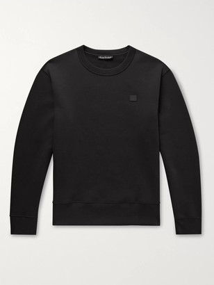 Acne Studios Fairview Logo-Appliqued Fleece-Back Cotton-Jersey Sweatshirt