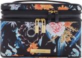 Tartan + Twine Floral Knit Double Zip Train Case