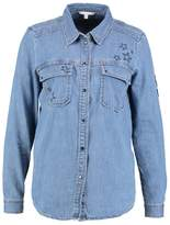 Tom Tailor Shirt mid stone bright blue denim