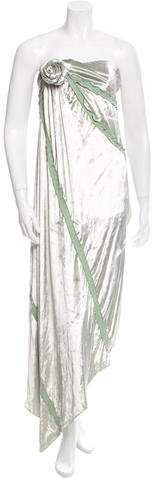 Chris Benz Strapless Velvet Dress w/ Tags