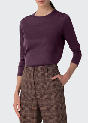 Akris Cashmere-Silk Knit Long-Sleeve Pullover