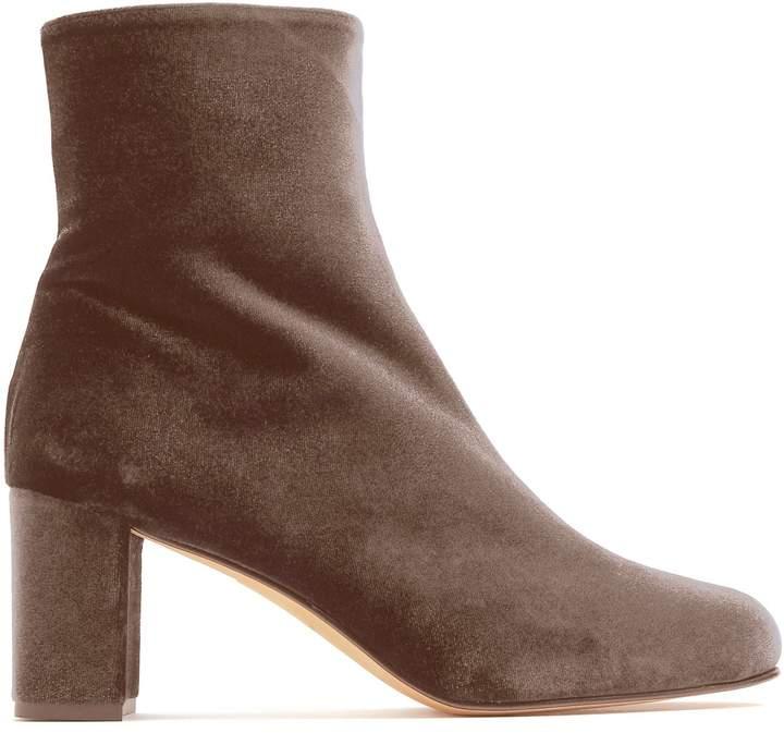 Maryam Nassir Zadeh Agnes block-heel velvet ankle boots