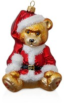 Mia Teddy The Bear Glass Ornament