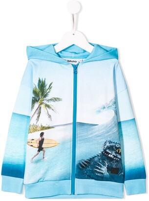 Molo Kids Surf Surprice zip front hoodie