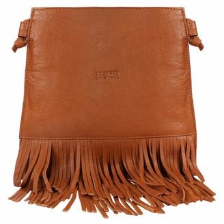 Leather Centric Leather Fringe Crossbody Bag for Women - Ladies Handbag Tassel Shoulder Hobo Bags (Medium