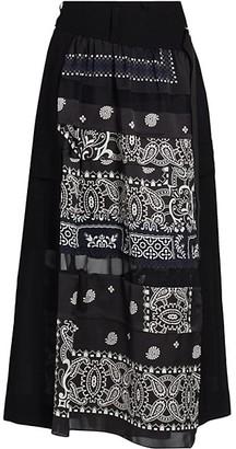 Sacai Archive-Print Mix Skirt