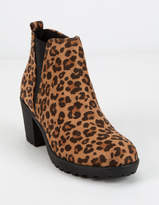 Soda Sunglasses Heeled Gore Leopard Girls Boot