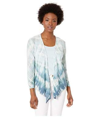 Nic+Zoe Petite Ombre Sea Four-Way Cardy (Multi) Women's Clothing