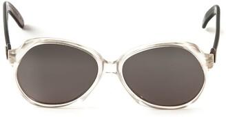Yves Saint Laurent Pre Owned Round Frame Sunglasses