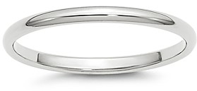 Bloomingdale's Men's 2mm Half Round Band Ring in 14K White Gold - 100% Exclusive