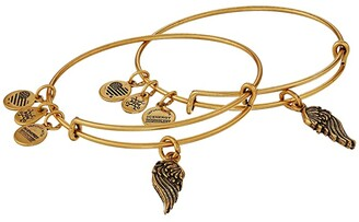 Alex and Ani Wings Set of 2 (Rafaelian Gold) Bracelet