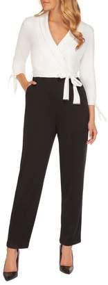 Dex Faux Wrap Cotton-Blend Jumpsuit