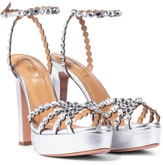 Aquazzura Tequila 120 embellished platform sandals