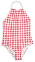 Ralph Lauren Toddler Girl's One-Piece Gingham Swimsuit