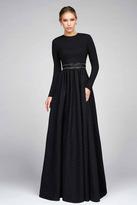 Ieena for Mac Duggal - 25295 Full Sleeve Gown In Black