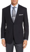 Canali Men's Classic Fit Solid Wool Blazer