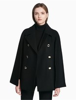 Calvin Klein Double Breasted Cape Coat