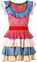 Alexander McQueen knitted tiered mini dress