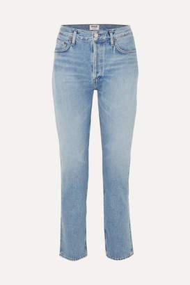 A Gold E Agolde AGOLDE - Remy High-rise Straight-leg Jeans - Light denim