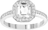 Swarovski Attract Light Square Ring, White