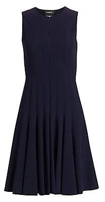 Akris Women's Zipper-Accented Wool Dress