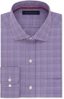Tommy Hilfiger Men's Classic-Fit Non-Iron Purple Multi-Check Dress Shirt