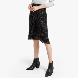 Draped Polka Dot Skirt