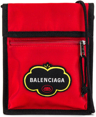 Balenciaga Explorer Pouch Strap in Bright Red | FWRD