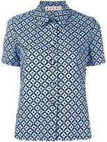 Marni Tracery print short sleeved top - women - Cotton - 40