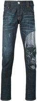 Philipp Plein embellished skull skinny jeans - men - Cotton/Polyester/Spandex/Elastane - 30