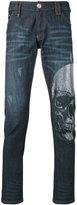 Philipp Plein embellished skull skinny jeans